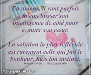 Amour, coeur, intemotionnelle, intelligence emotionnelle