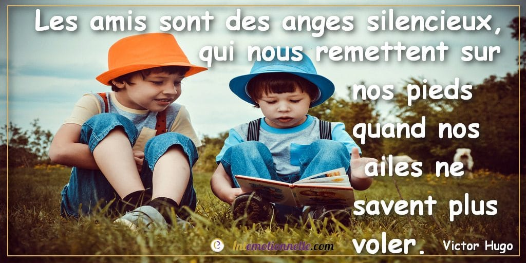 les amis sont des anges silencieux victor hugo citation intelligence emotionnelle intemotionnelle